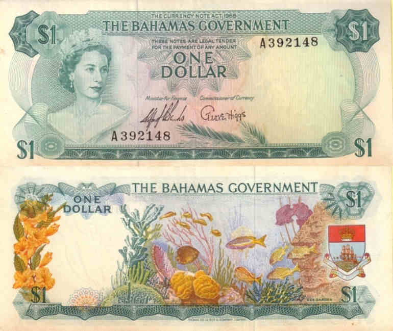 UNC/>QEII 2002 P-70,banknotes Bahamas 1 Dollar