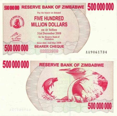 ZIMBABWE 5,000,000,000 P61 2008 5 BILLION DOLLARS GIRAFFE UNC AGRO CURRENCY NOTE